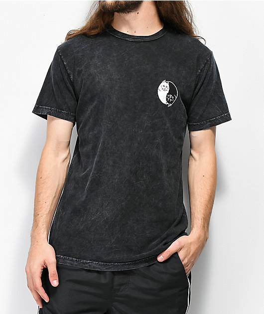 RIPNDIP Nermal Yang Black Wash T-Shirt