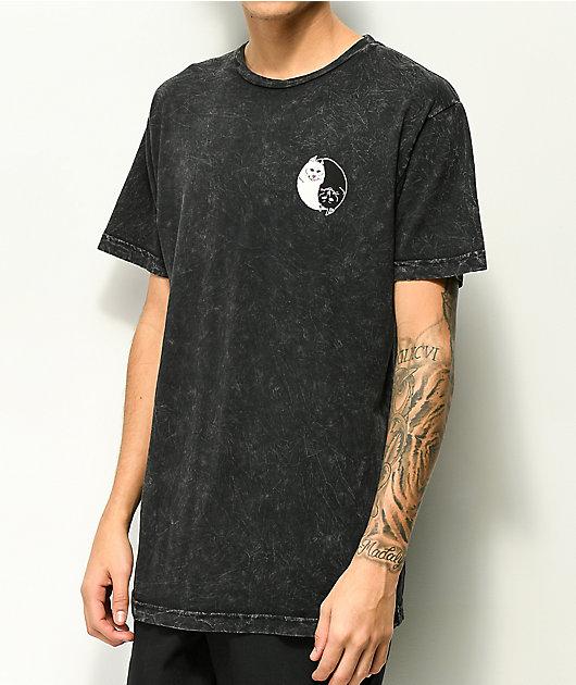 RIPNDIP Nermal Yin Yang Washed Black T-Shirt