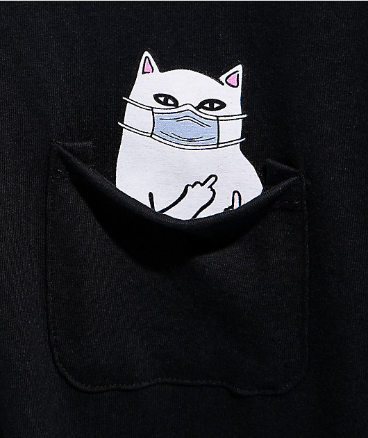 RIPNDIP Nermaphobe Black Pocket T-Shirt