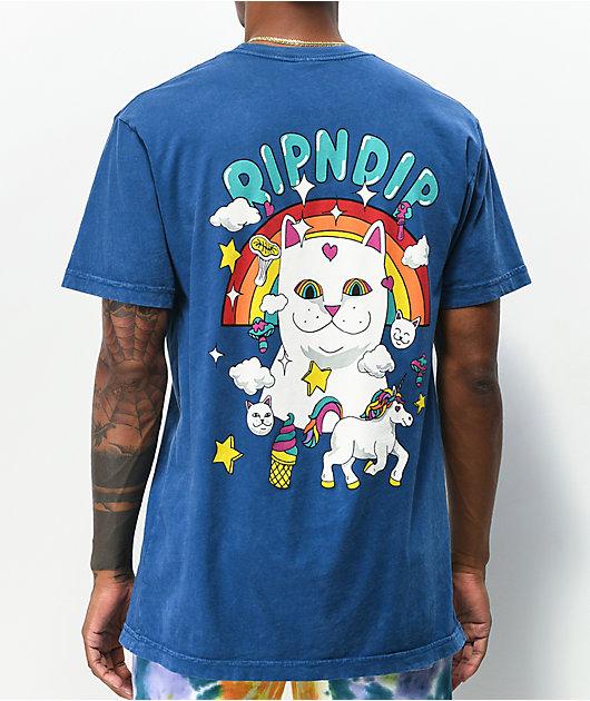 RIPNDIP Nermland Blue Mineral Wash T-Shirt