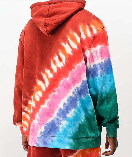 RIPNDIP OG Prisma Red Tie Dye Hoodie