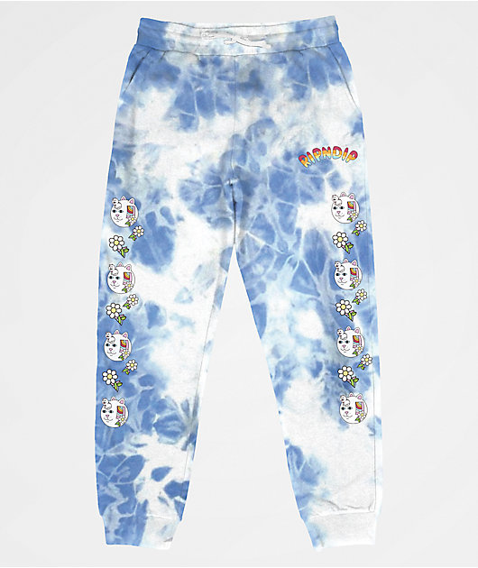 RIPNDIP Out Of The Box Blue Tie Dye Sweatpants