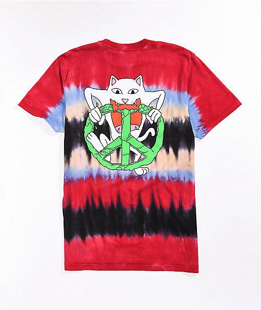 RIPNDIP Peace No Love Red Tie Dye T-Shirt