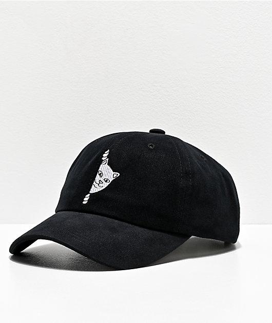 RIPNDIP Peek A Nermal 2.0 Black Strapback Hat