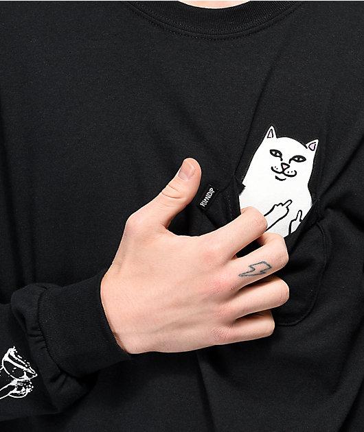 RIPNDIP Peeking Nermal Black Long Sleeve T-Shirt