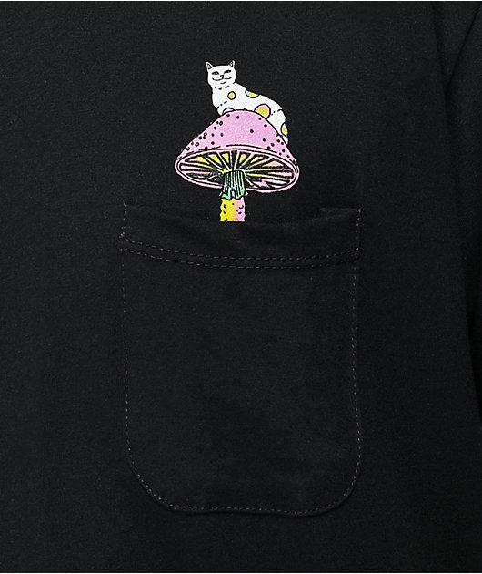 RIPNDIP Psychedelic Black Pocket T-Shirt