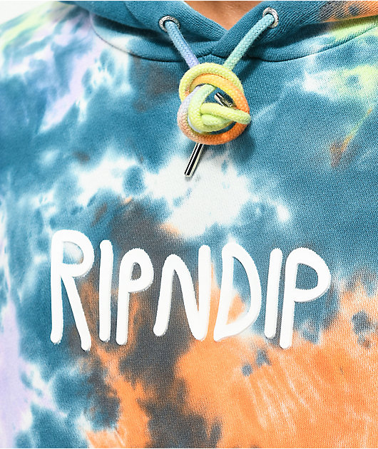 RIPNDIP Rubber Logo Tie Dye Hoodie