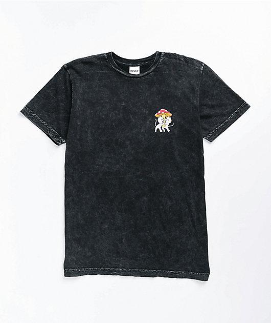 RIPNDIP Sharing Is Caring Black Wash T-Shirt