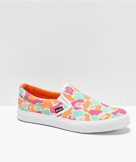 RIPNDIP Slip-On Oversized Camo Shoes