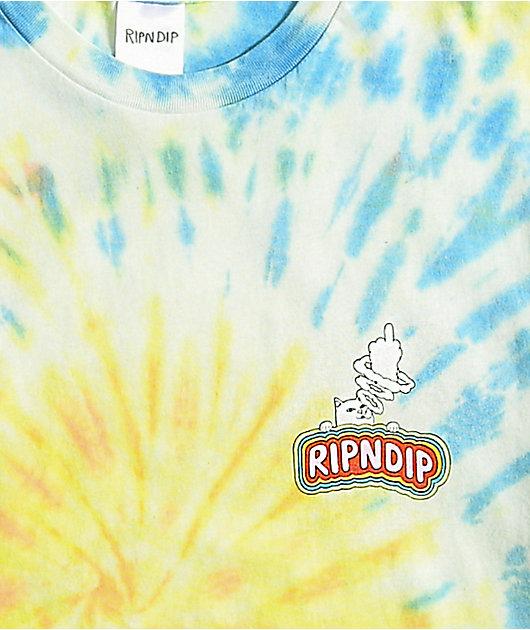 RIPNDIP Smokin Multi Tie Dye T-Shirt