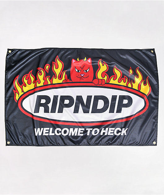 RIPNDIP Welcome To Heck Black Banner