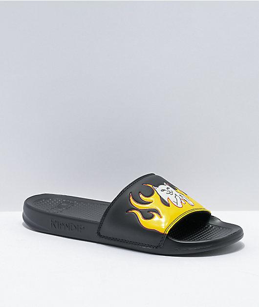 RIPNDIP Welcome To Heck Slide Black Slide Sandals