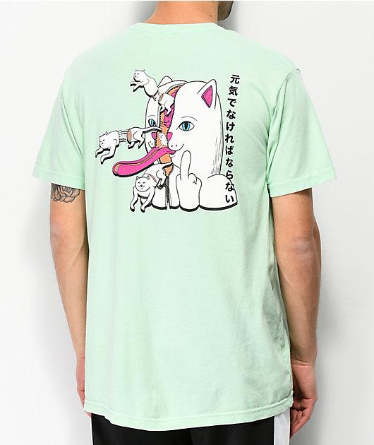 RIPNDIP Zipper Face Mint T-Shirt
