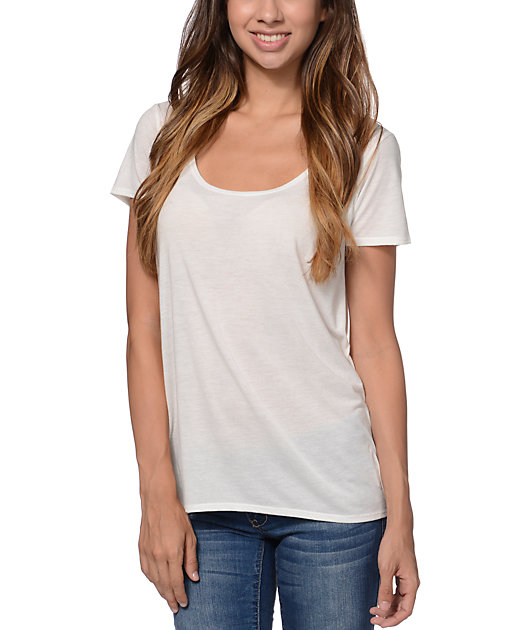 RVCA Izapa White Open Back T-Shirt