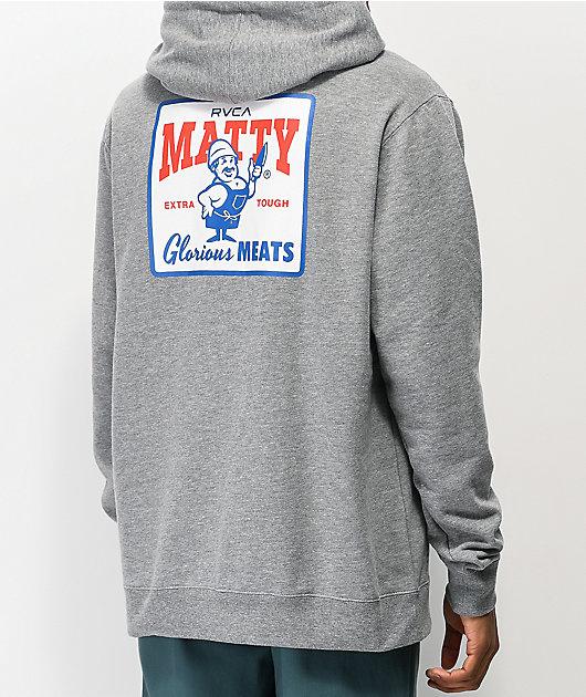 RVCA x Matty Matheson Glorious Meats sudadera con capucha gris