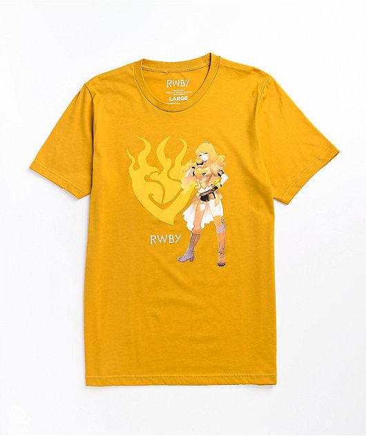 RWBY Yang Fiery Mustard T-Shirt