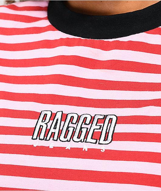 Ragged Jeans Reach camiseta rosa de rayas