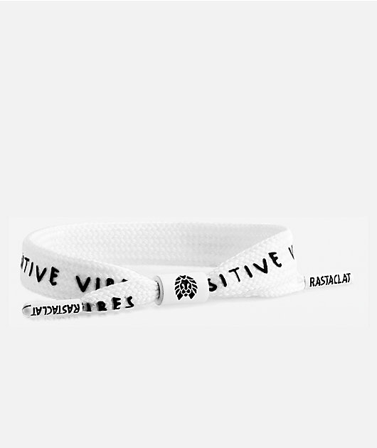 Rastaclat Positive Vibes pulsera blanca