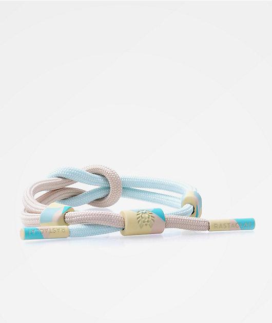 Rastaclat Short Fatigue Tan & Blue Knotted Bracelet