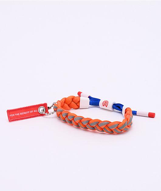 Rastaclat x NASA Comet Orange & Blue Bracelet