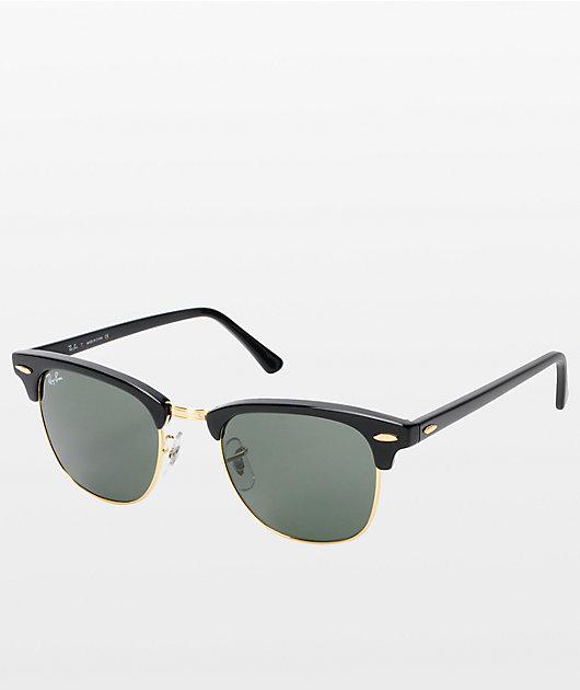 Ray-Ban Clubmaster gafas de sol en negro y oro