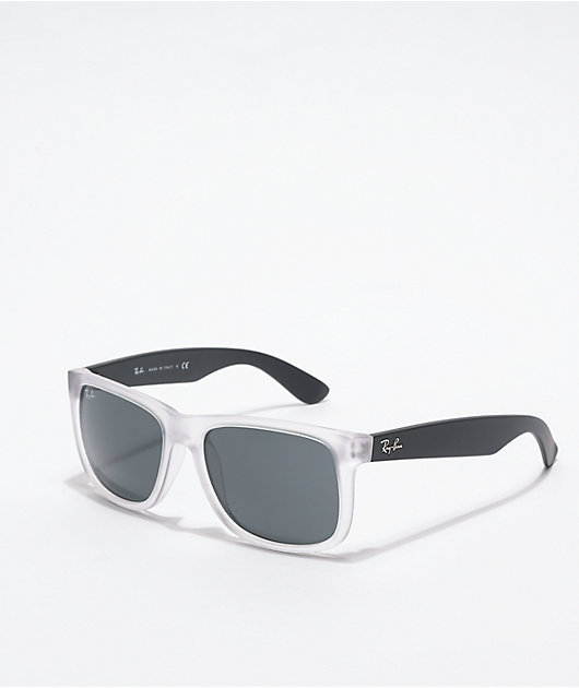 Ray-Ban Justin Transparent & Black Sunglasses