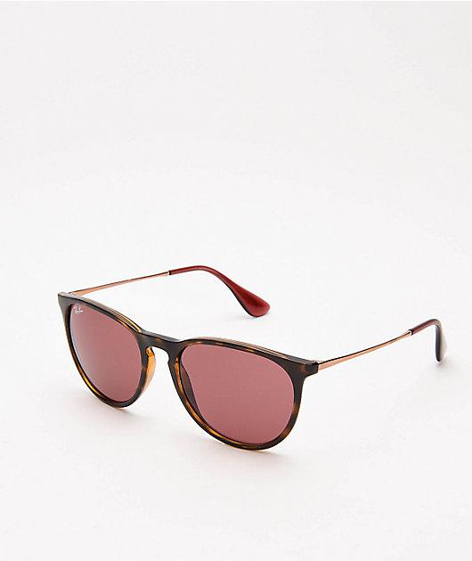 Ray-Ban RB4171 Erika Tortoise & Dark Violet Sunglasses