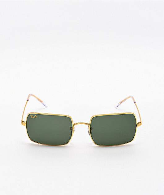Ray-Ban Rectangle RB1969 Legend Gold & Dark Grey Sunglasses