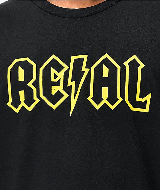 Real Deeds Outline camiseta negra
