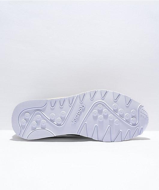 Reebok Classic Leather & Nylon White & Grey Shoes