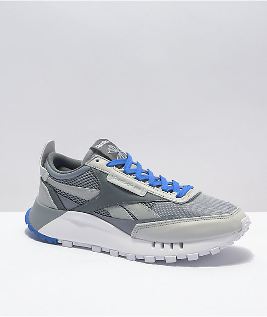 Reebok Classic Leather Legacy White, Grey & Navy Shoes