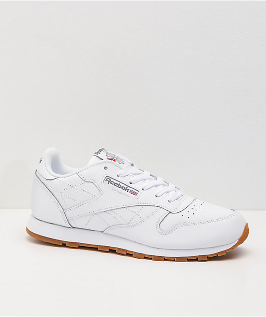 Reebok Classic Leather White & Gum Shoes