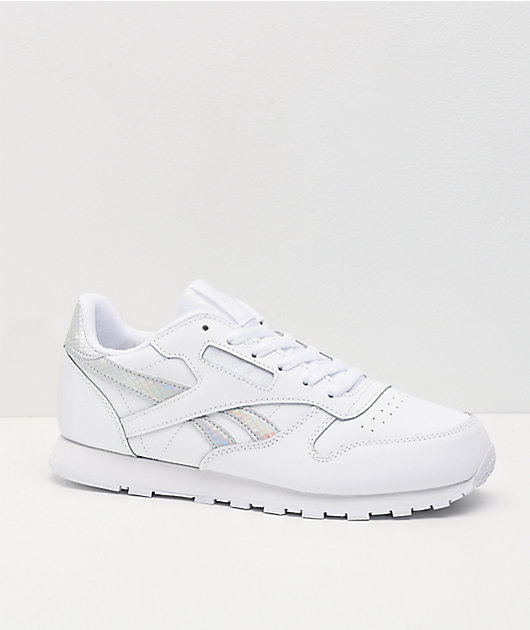 Reebok Classic Leather White & Iridescent Shoes