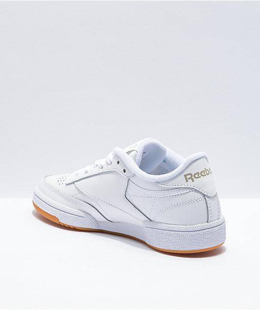 Reebok Club C 85 White, Light Grey & Gum Shoes