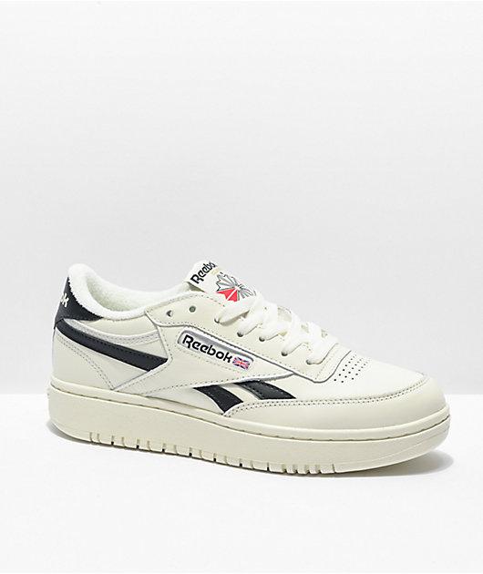 Reebok Club C Double White & Black Shoes
