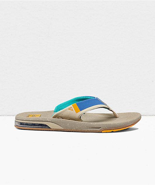 Reef Fanning Low Tan & Blue Sandals