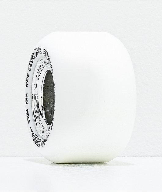 Ricta Chrome Core 53mm 101a White & Silver Skateboard Wheels