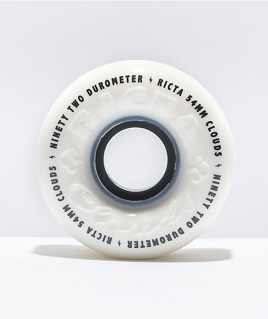 Ricta Clouds 54mm 92a White and Black Skateboard Wheels