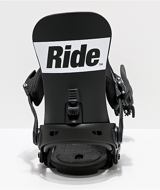Ride Rodeo Black & White Snowboard Bindings 2020