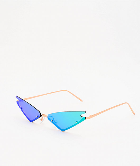 Rimless Micro Cat Eye Sunglasses