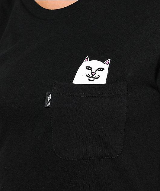 Rip N' Dip Lord Nermal camiseta negra con bolsillo
