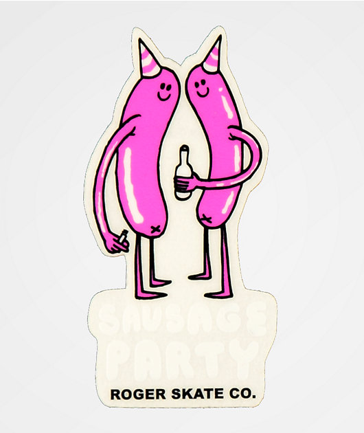 Roger Sausage Party Sticker