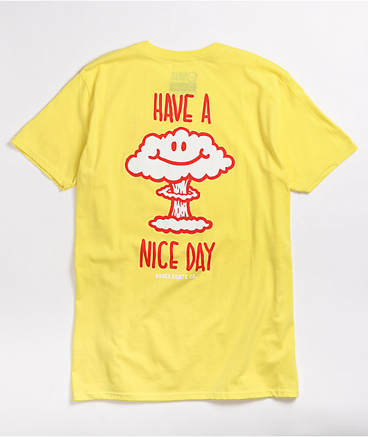 Roger Skate Co. Have A Nice Day Light Blue T-Shirt
