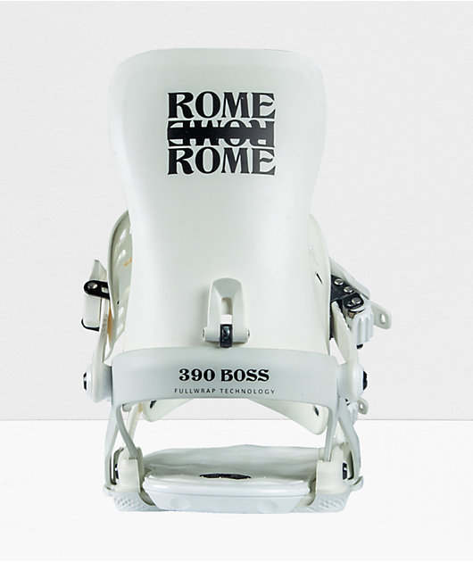 Rome 390 Boss White Snowboard Bindings 2021