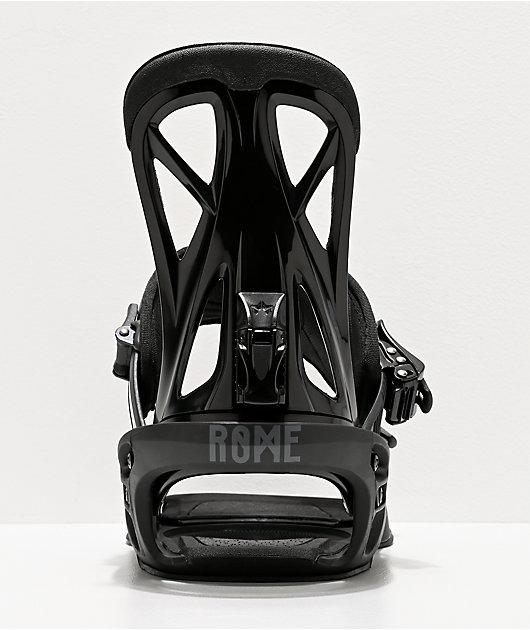 Rome United Black Snowboard Bindings 2020