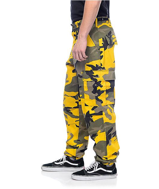Rothco BDU Stinger Yellow Camo Cargo Pants