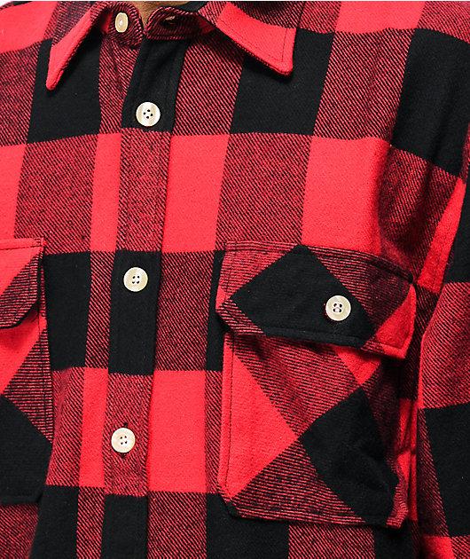 Rothco Heavy Red & Black Flannel Shirt