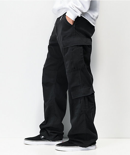 Rothco Paratrooper Vintage Black Cargo Pants