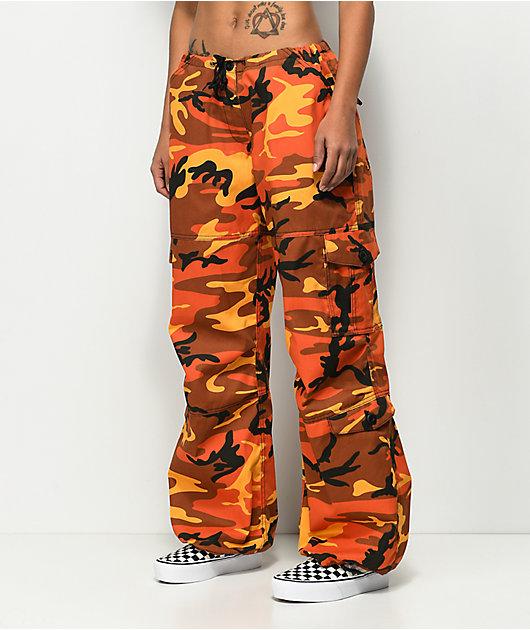 Rothco Vintage Fatigue pantalones camuflados en naranja