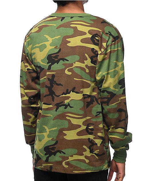 Rothco Woodland Camo Long Sleeve T-Shirt
